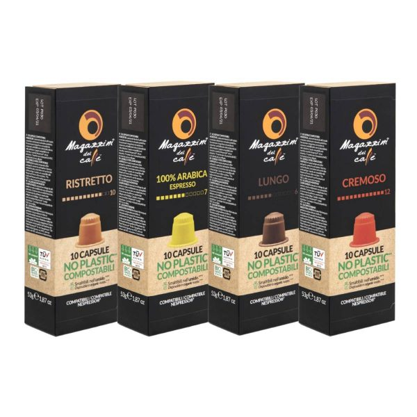 Nespresso® Compostable Compatible Coffee Capsules, Pods, starter pack