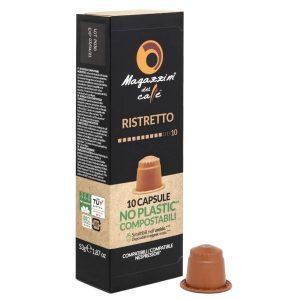 Nespresso® Compostable Compatible Coffee Capsules, Ristretto