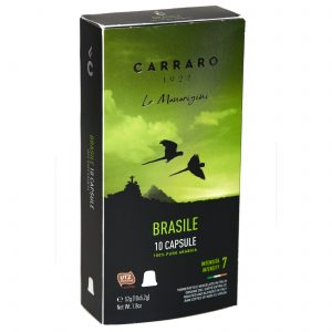 Carraro Nespresso® Compatible Coffee Capsules, Brasile Single Origin