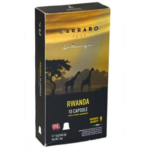 Carraro Nespresso® Compatible Coffee Capsules, Rwanda Single Origin